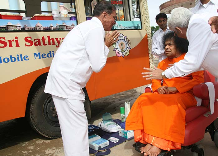 Sri Sathya Sai Baba blessing instruments,Medical Van Maharashtra and Goa,Dharmakshetra
