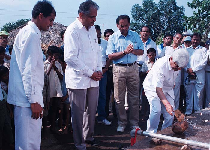 Sri Sathya Sai water project at Kombaltekdi, Maharashtra and Goa